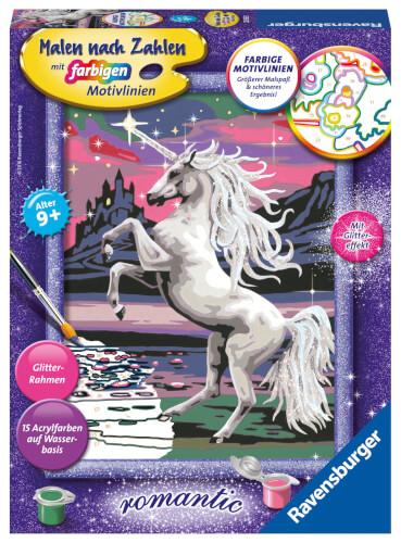 Ravensburger Malen nach Zahlen 7 Pferd Daisy Rahmen Kinder Spielzeug Basteln