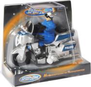 Speedzone Polizei Motorrad, 11 cm, Aufziehfunktion