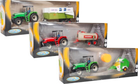 Speedzone D/C Traktor mit Anhänger 1:32, 3-fach sortiert