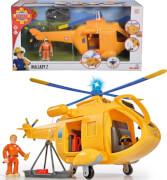 Simba Feuerwehrmann Sam - Hubschrauber Wallaby II inkl. Licht/Sound und Zubehör, Kunststoff, ca. 34 cm, ab 3 Jahre