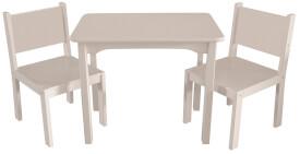 Kindersitzgruppe, weiß, 1 Tisch, 2 Stühle