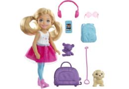 Mattel FWV20 Barbie® Reise Chelsea Puppe und Zubehör