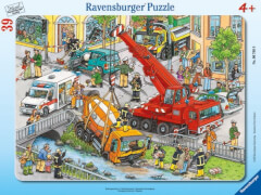 Ravensburger 067688  Rahmenpuzzle Rettungseinsatz 39 Teile