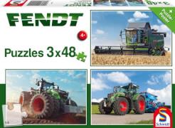 Schmidt Spiele Kinderpuzzle Fendt 1050 Vario / 724 Vario / 6275L, 3x48 Teile