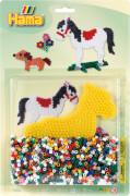 HAMA Stiftplatte+Perlen Pferd, 1.100 Stück