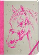 Meine Notizen (pink) - Notizbuch Pferdef