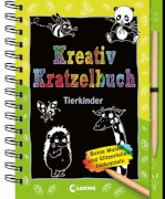 Kreativ-Kratzelbuch: Tierkinder