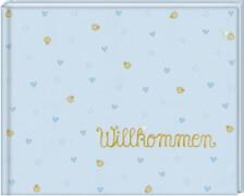 Babyalbum Willkommen, hellblau (BabyGlück)