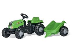 rollyKid X Traktor grün mit Anhänger
