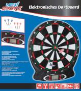 New Sports Elektronisches Dartboard, 18 Spiele, ca. 37,8x43x2 cm, für 1-8 Spielern, ab 14 Jahren