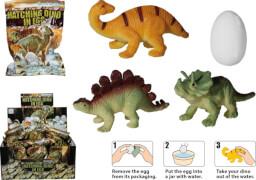 Schlüpfender Dino im sprudelnden Ei ca. 5cm, 6-fach sortiert