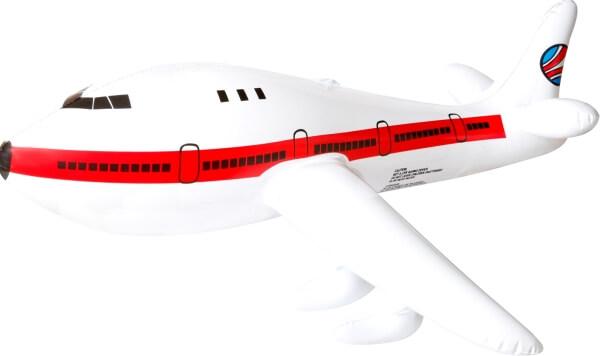 25 x 48 x 17 cm Kinderbadespaß Splash & Fun Aufblasbares Flugzeug